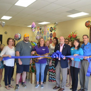 Ribbon Cutting for Sulphur Floral Designs